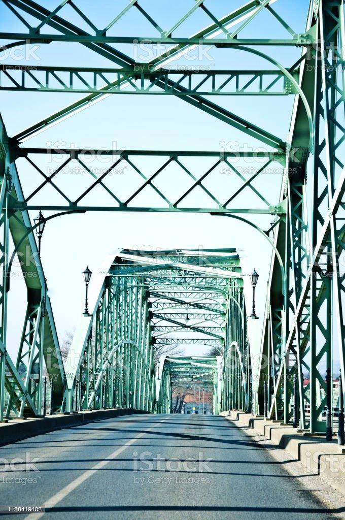 The Mária Valéria bridge joins Esztergom in Hungary and Štúrovo in...