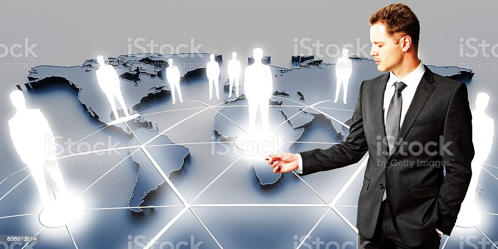 International business and partnership concept stock photo