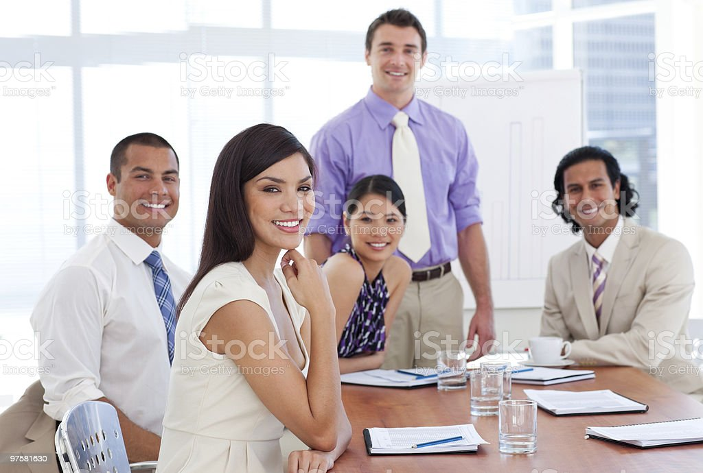 International business associates in a meeting royalty-free stock photo