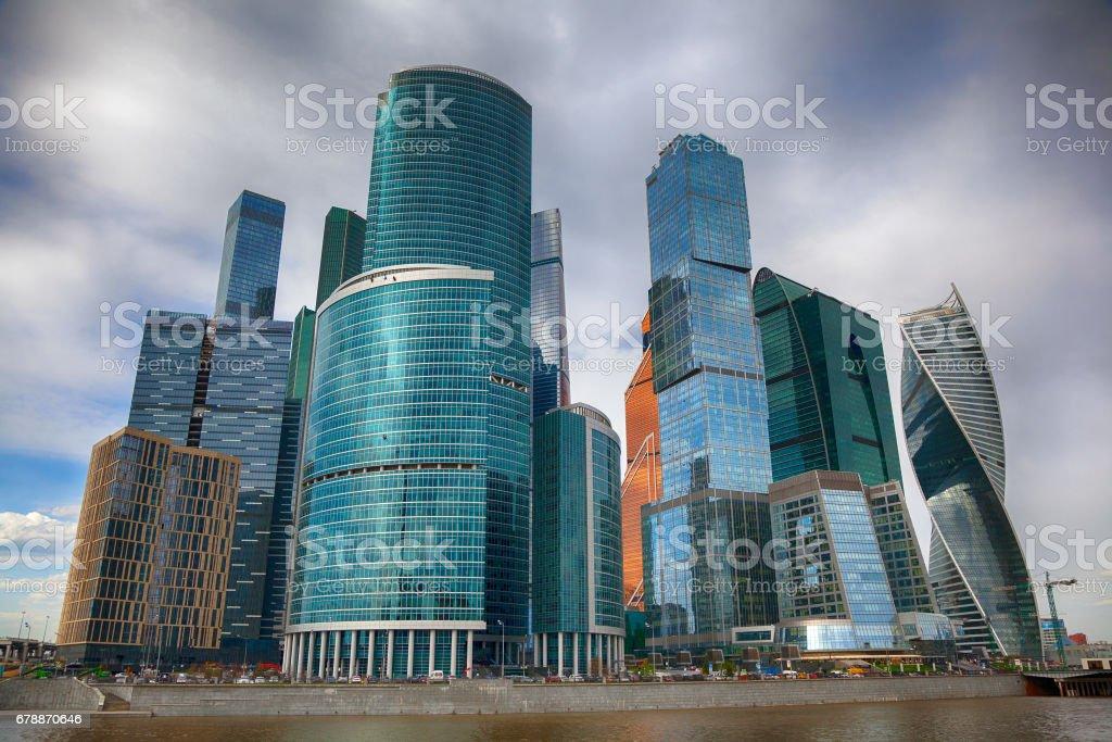 International business center Moscow city, Russia photo libre de droits
