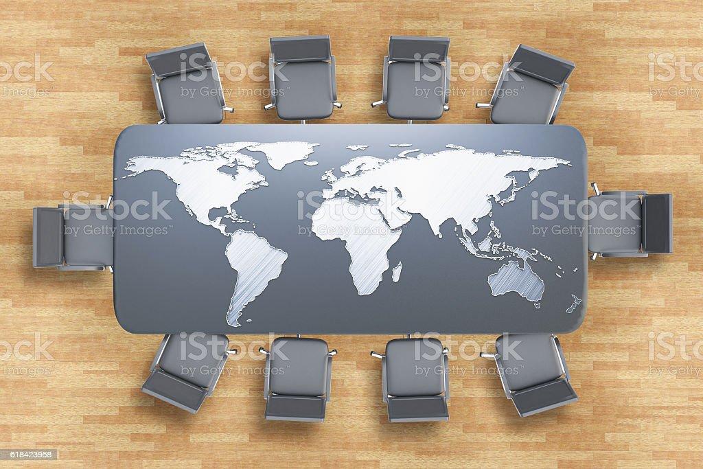 International business concept stock photo