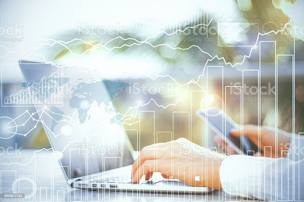 International business concept stock photo