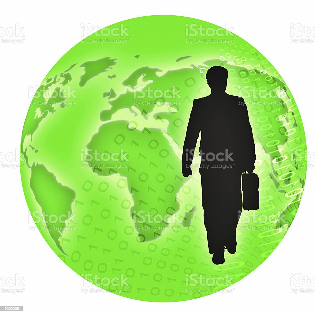 International business man (version b) royalty-free stock photo
