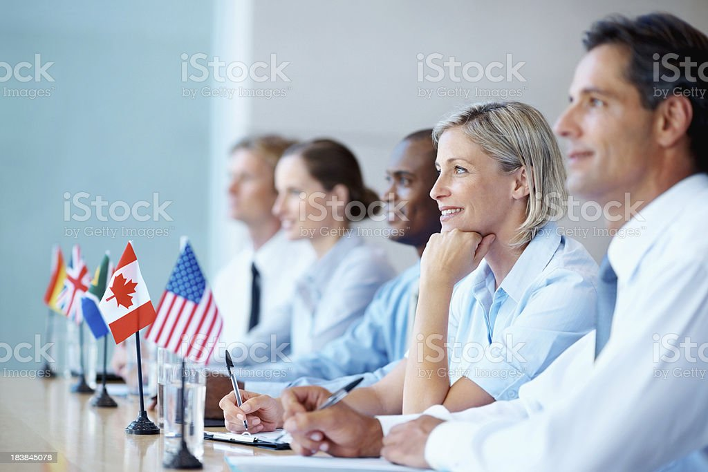 International business people in a meeting royalty-free stock photo
