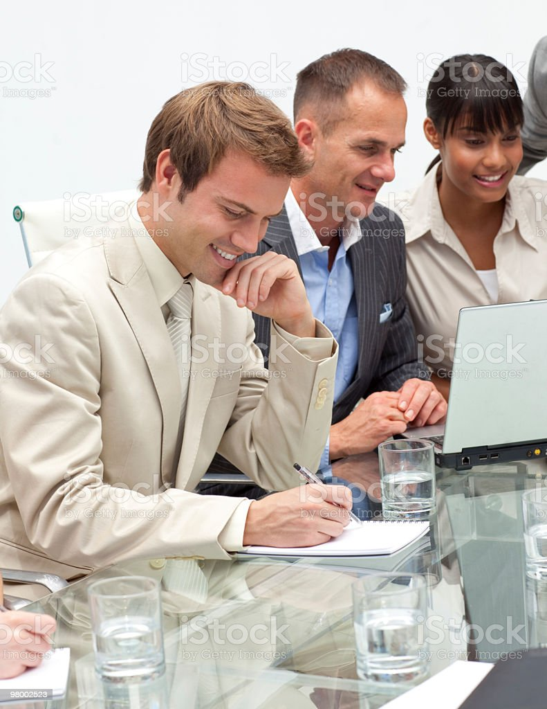 International business people in a meeting royalty free stockfoto
