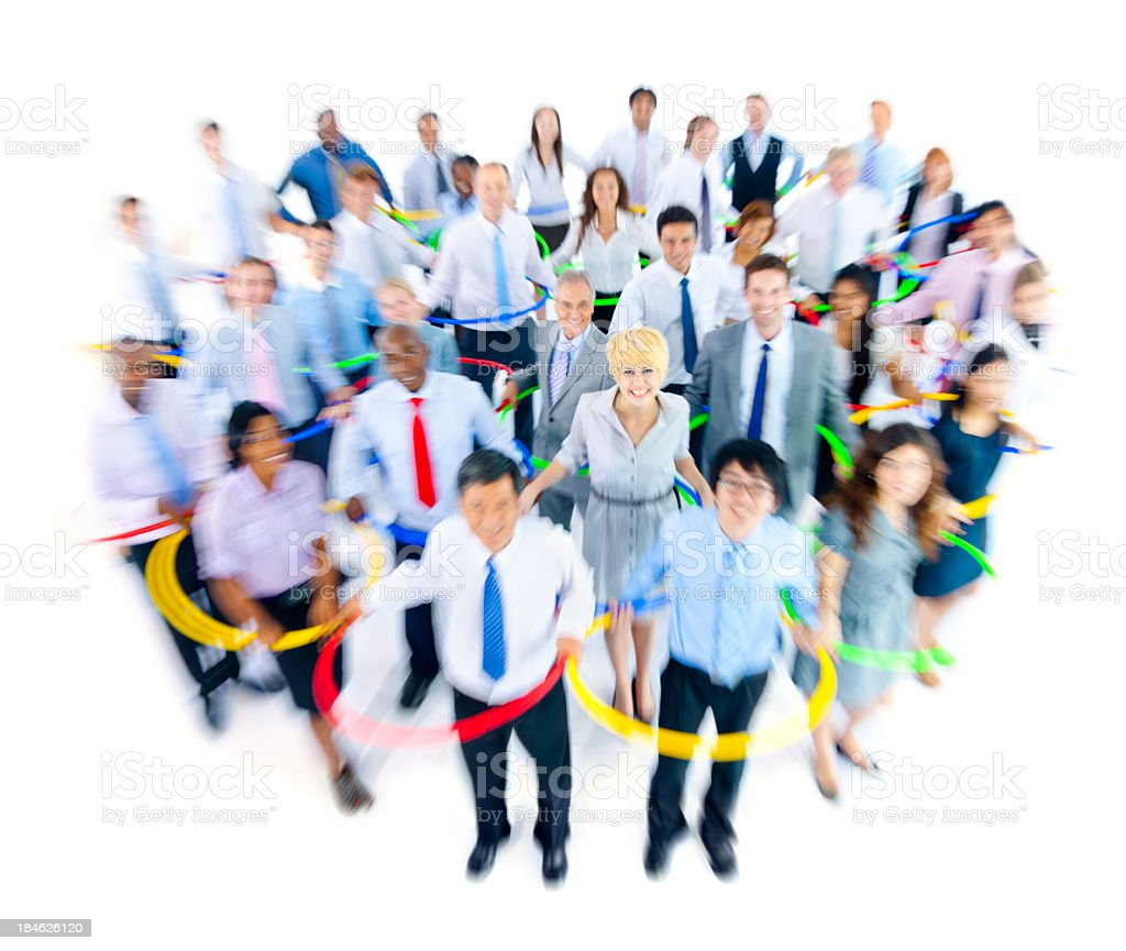 International business people networking royalty-free stock photo