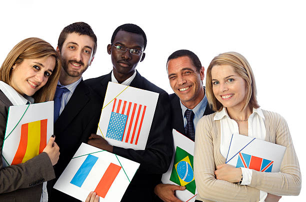 International business team stock photo