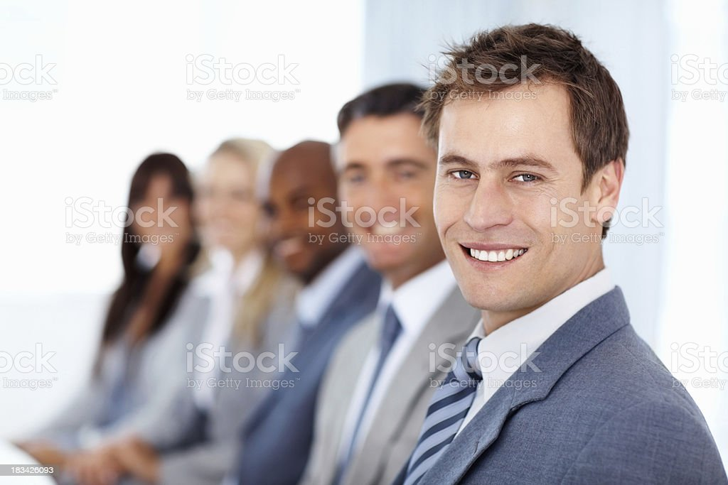 International business team royalty-free stock photo