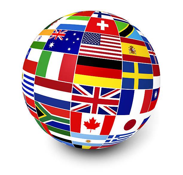 Negocios internacionales World Flags - foto de stock