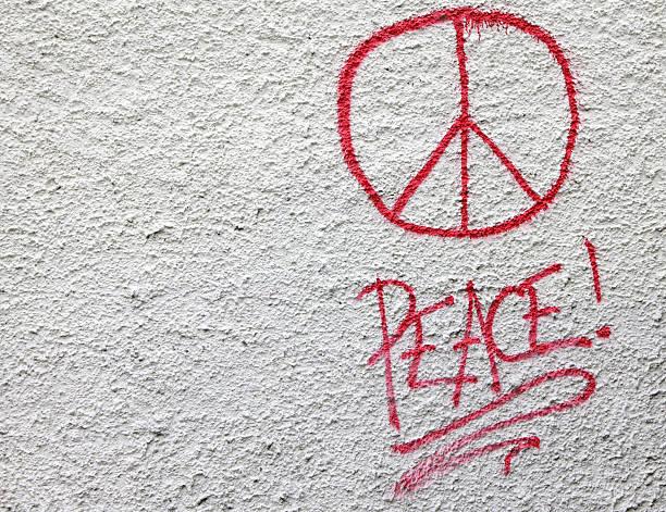 international CND peace symbol stock photo