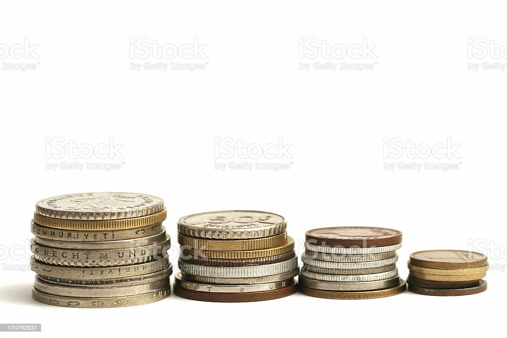 International coins #3 royalty-free stock photo