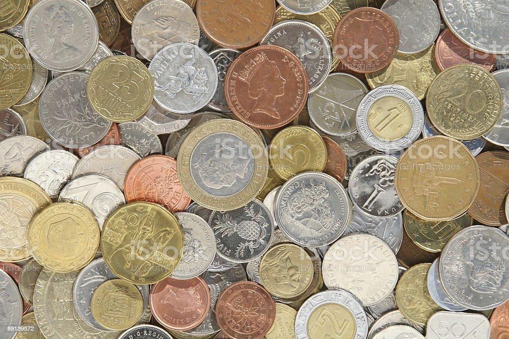 International Coins royalty-free stock photo
