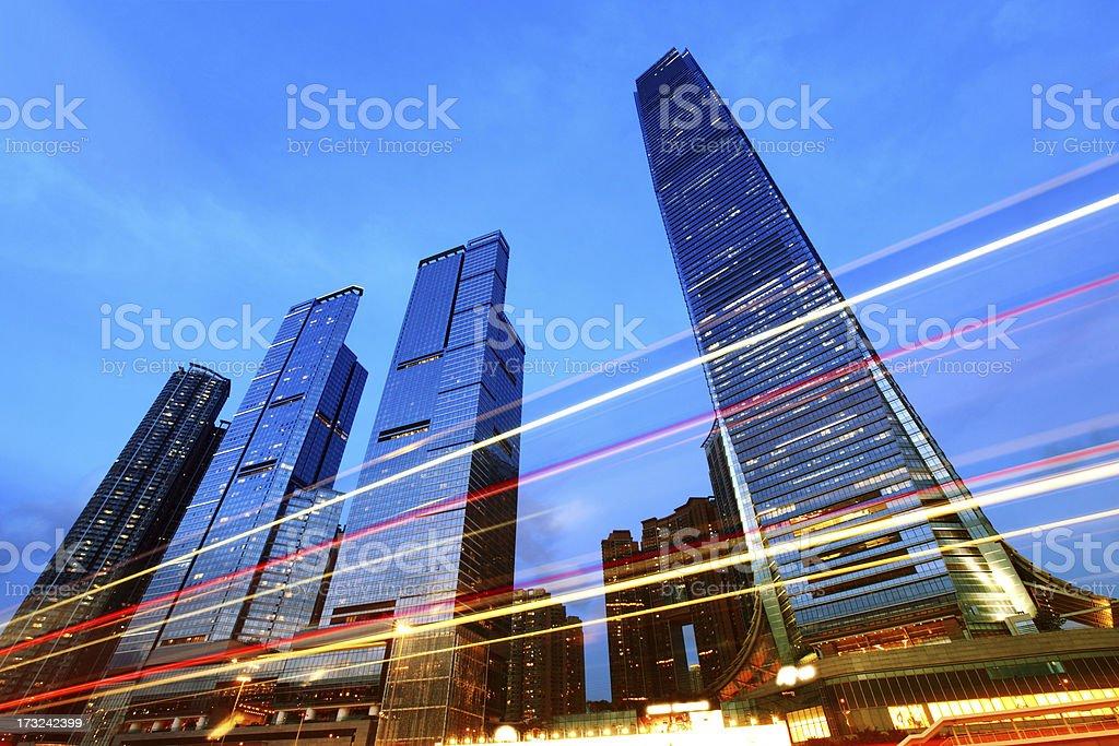 International Commerce Center in Hong Kong, China royalty-free stock photo