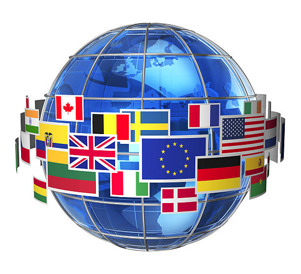 International communication concept See also: national flag stock pictures, royalty-free photos & images