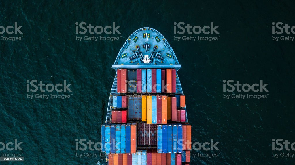International Container Cargo ship stock photo