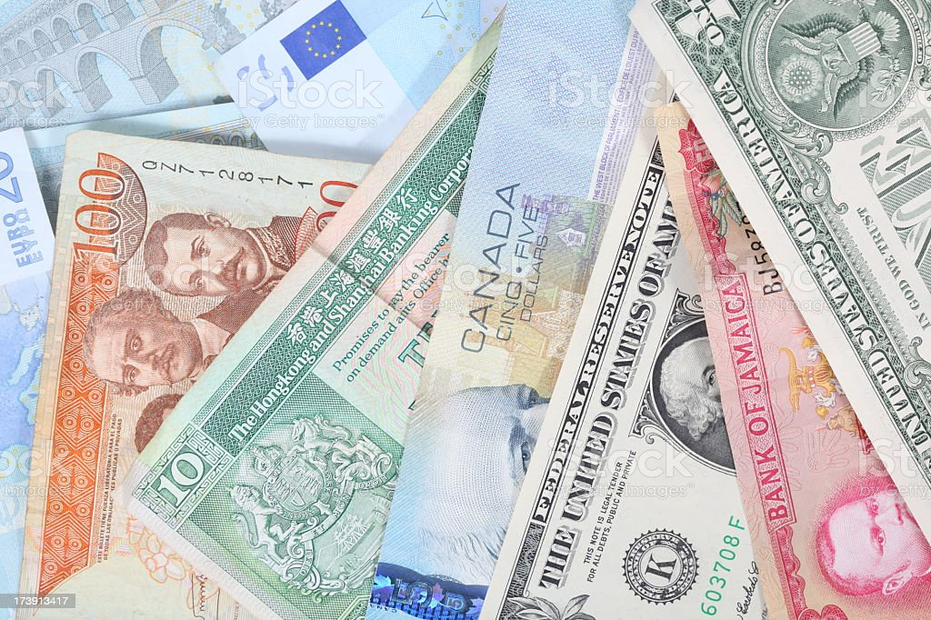 International currencies royalty-free stock photo