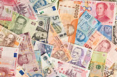 International Currency Global Money Exchange and Business Finance