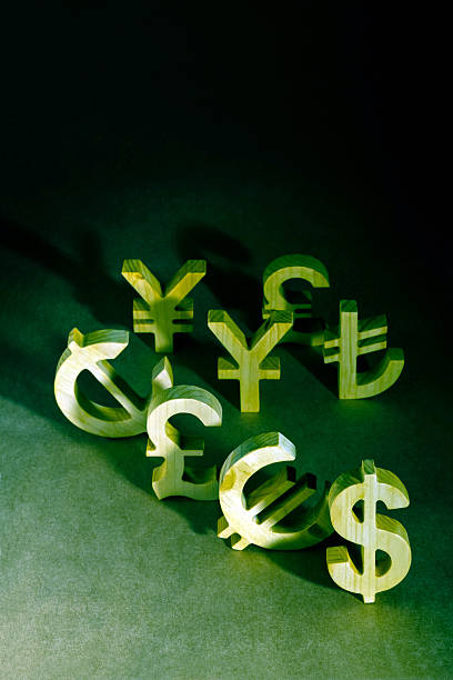 international currency units stock photo