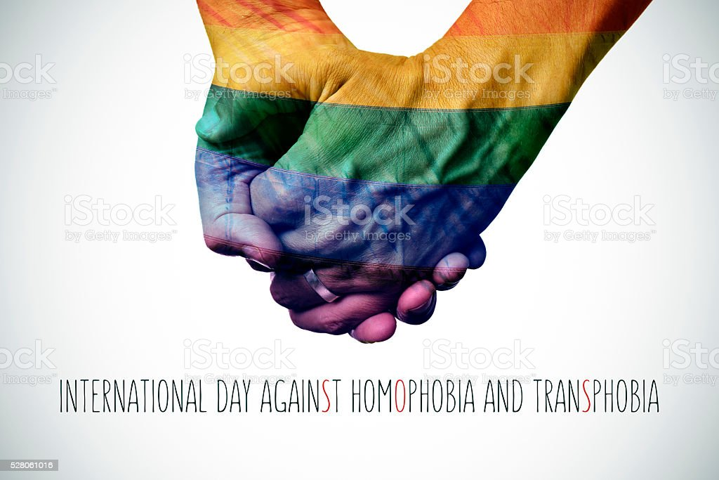 international day against homophobia and transphobia stock photo