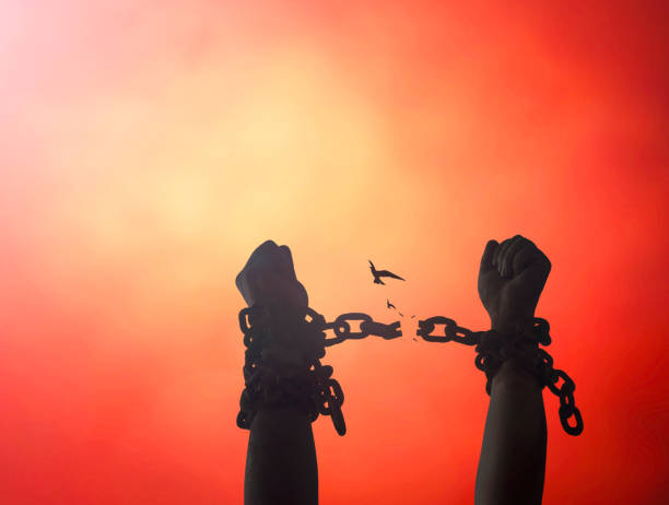 International day for the remembrance of the slave trade and its abolition concept stock photo