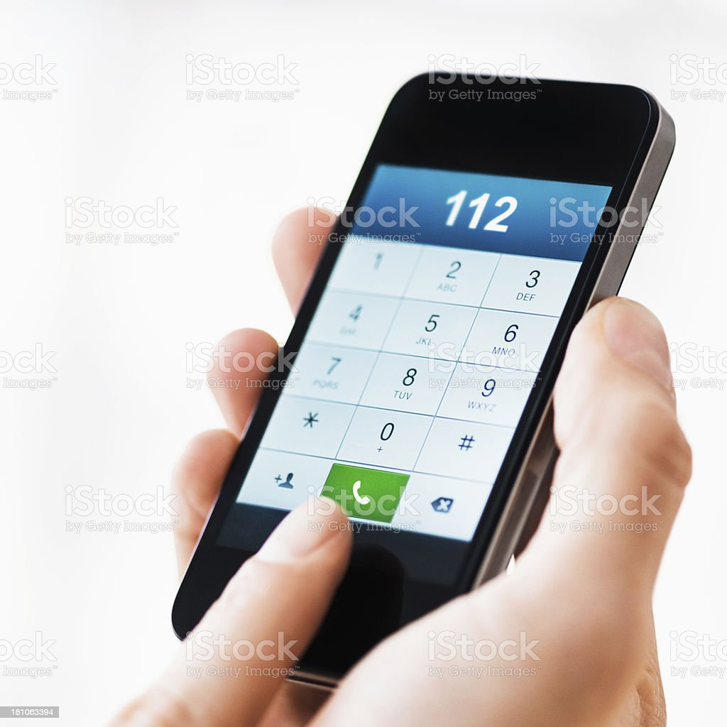 International (European) Emergency Call 112 stock photo