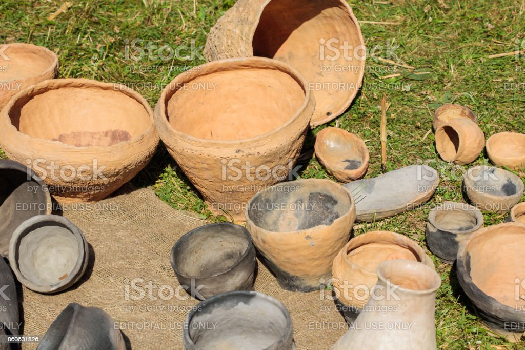 International Festival Days of Life Archaeology in Kernave stock photo