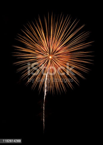 istock International fireworks festival display at night. Variety of colorful fireworks in holidays celebration isolated on black. Happy New Year Background. 1152614269