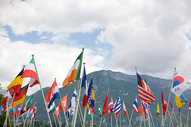 International flags International  flags diplomacy stock pictures, royalty-free photos & images