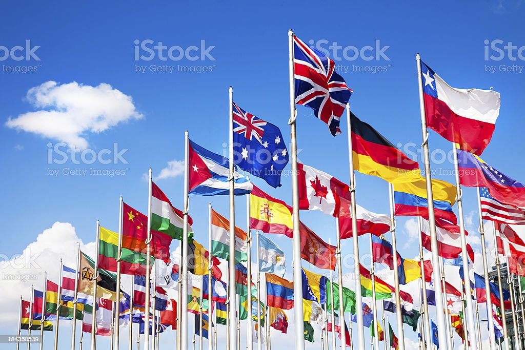 International flags royalty-free stock photo