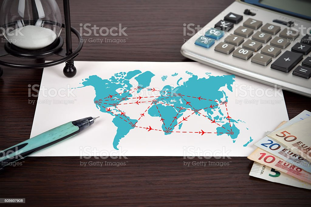 international flight stock photo