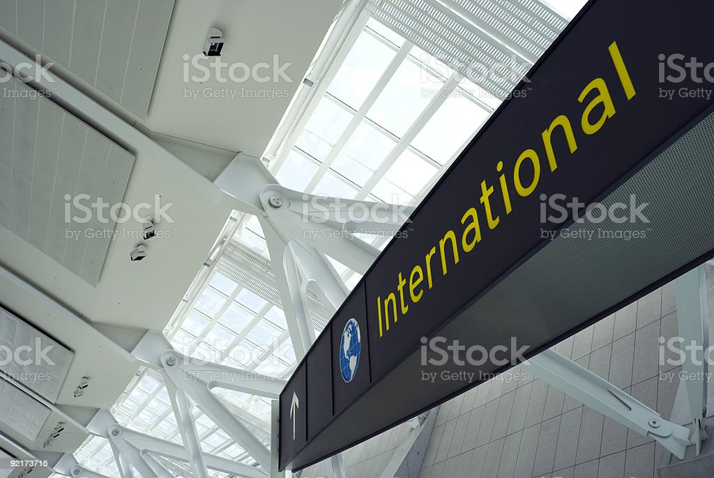 International Flights stock photo