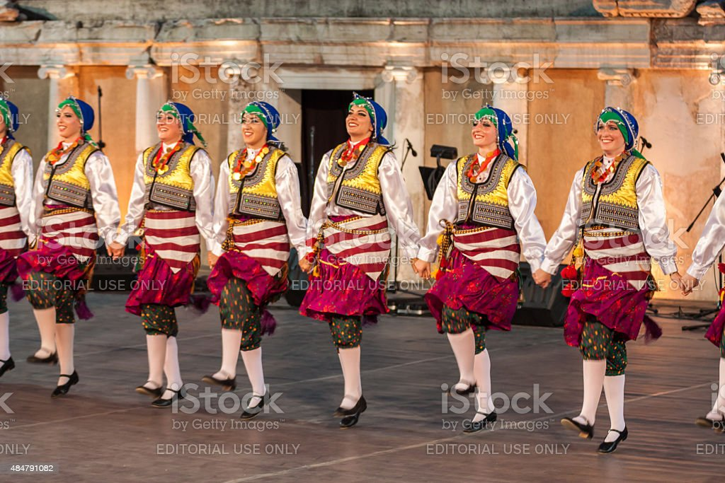 International folklore festival in Plovdiv, Bulgaria stock photo