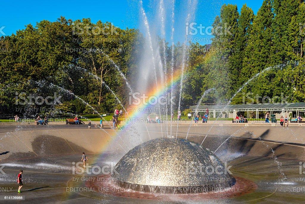 International Fountain stock photo