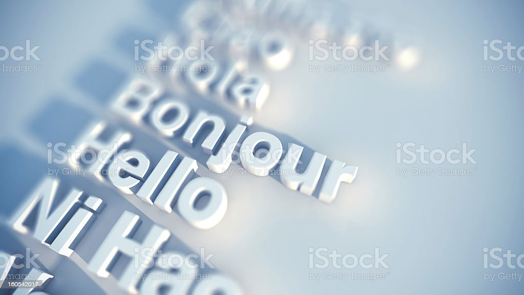 International greetings royalty-free stock photo