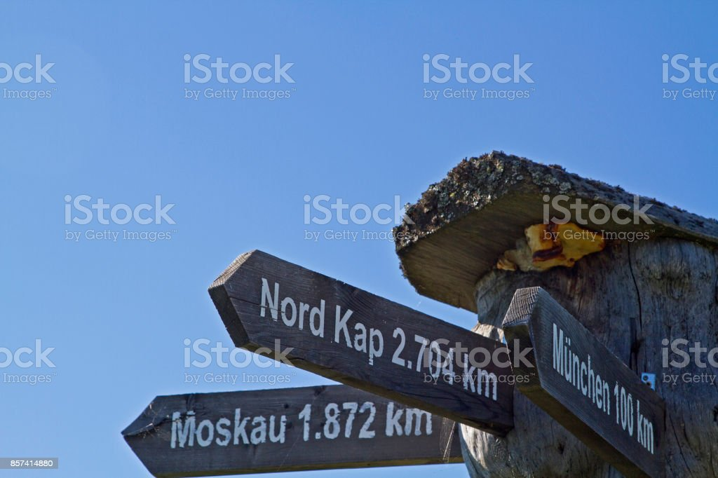 International guidepost stock photo