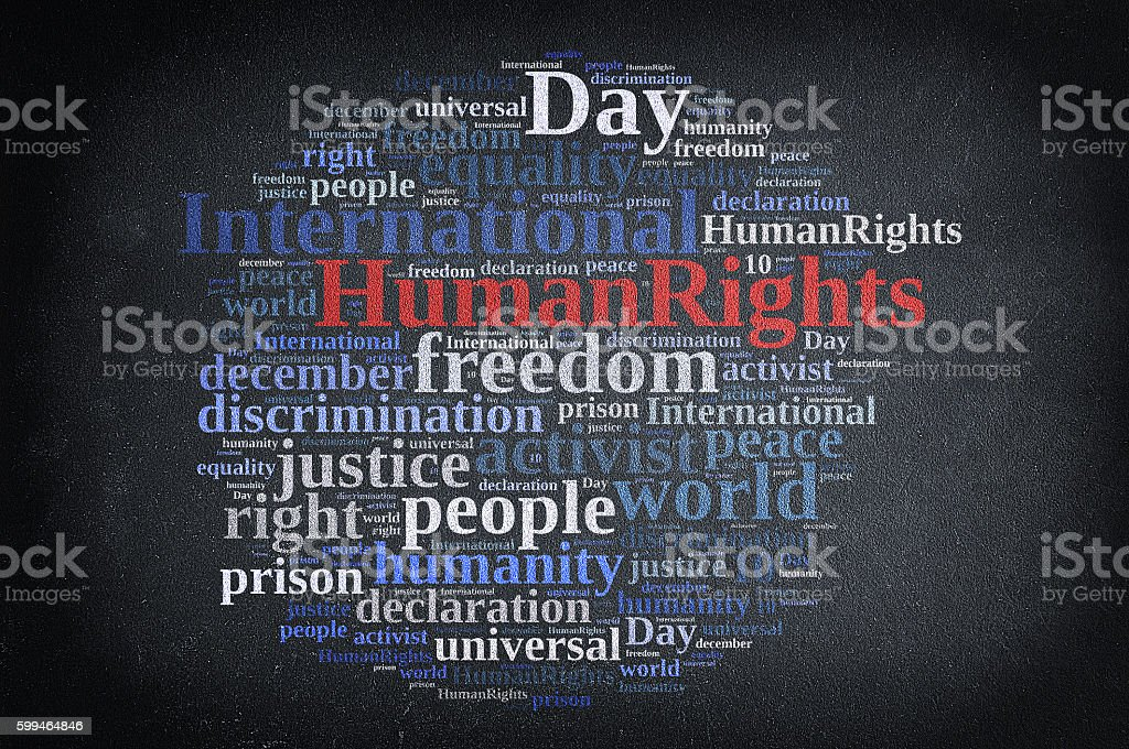 International Human Rights Day. stock photo