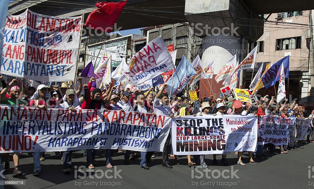 International Human Rights day protest stock photo