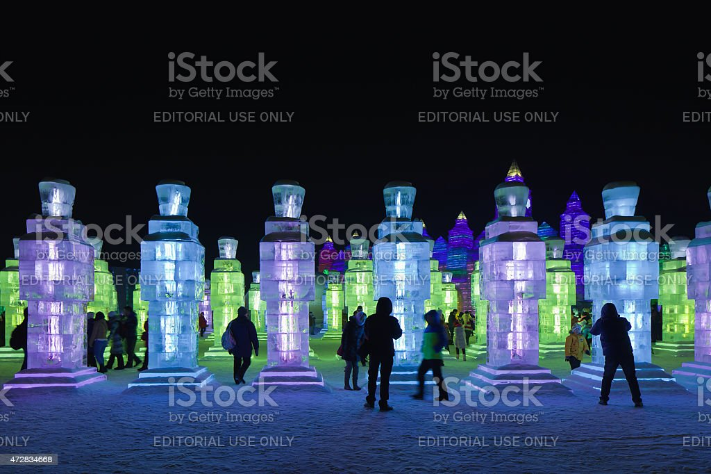 International Ice and Snow Sculpture Festival, Harbin, China stock photo