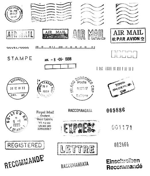 international mail - stamper stock photos and pictures
