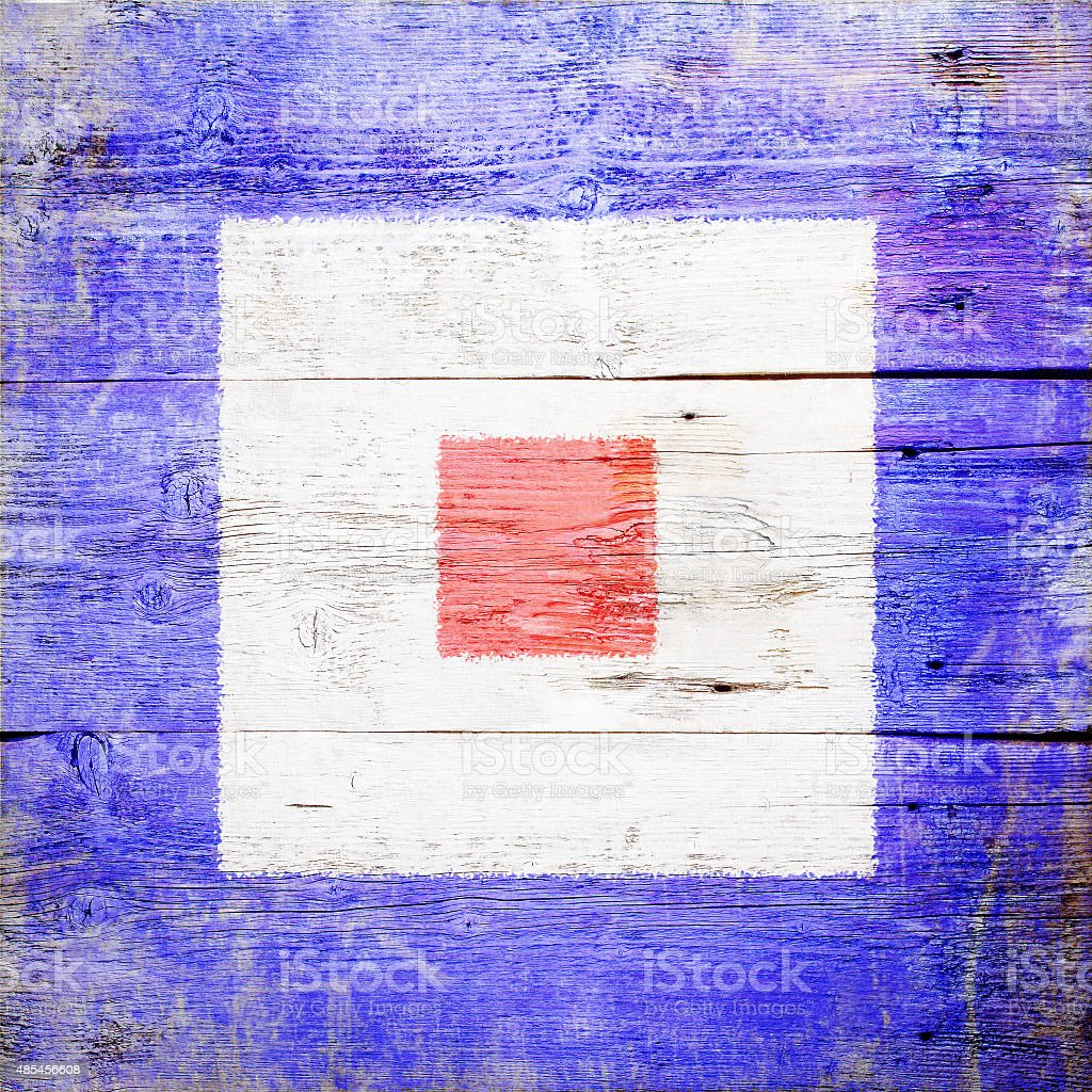International maritime signal flag stock photo