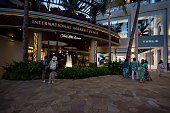 Honolulu, USA – Oct 29, 2017: The International Market Place shopping center in Waikiki late in the day.
