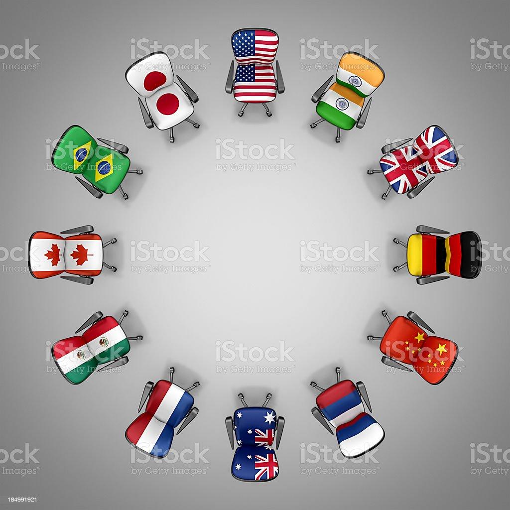 international meeting royalty-free stock photo