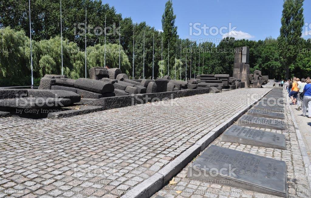 Oswiecim Polen 11 Juli 2015 Internationale Denkmal Zu Ehren Der ...
