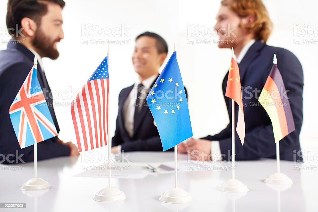 International negotiations stock photo