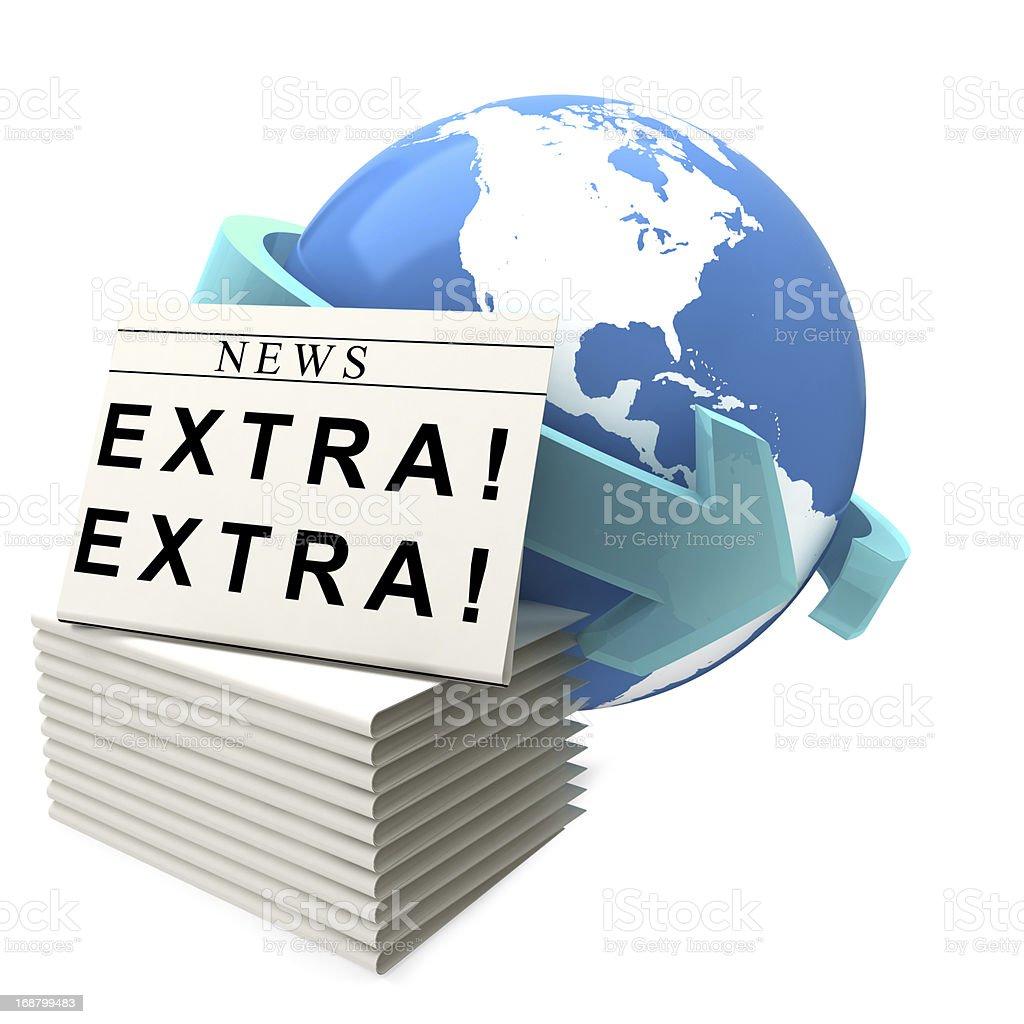International News royalty-free stock photo