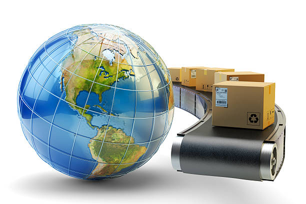 International package delivery and parcels shipping concept – Foto