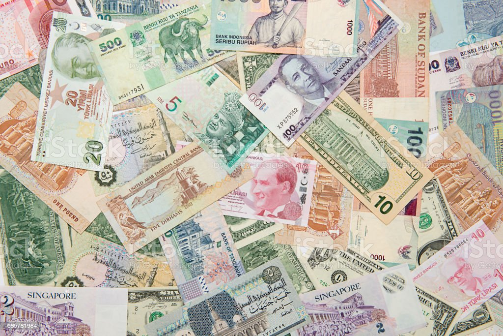International Paper Currency Background royalty-free stock photo