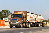 Villahermosa, Mexico - May 21, 2017: Semi-trailer truck International ProStar at the interurban road.