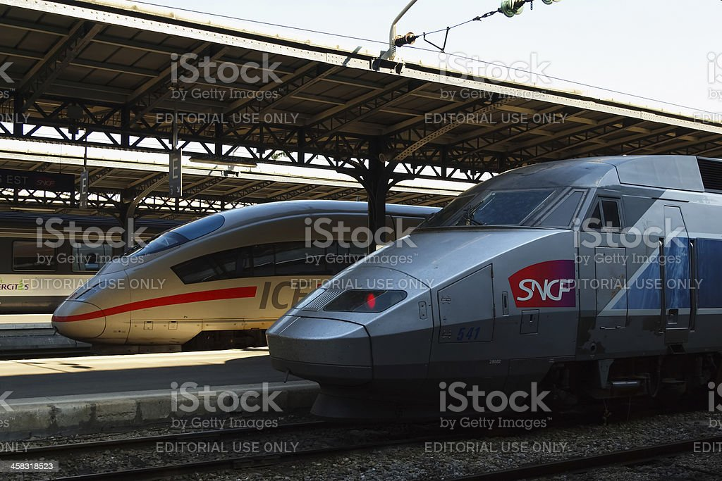 International railway cooperation stock photo