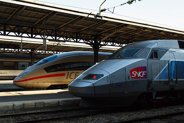 International railway cooperation stock photo